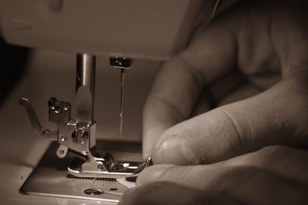 sewing, machine, hand